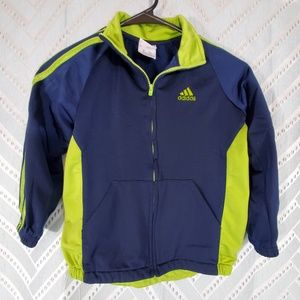 Adidas Kids Size 6 Blue/Green Jacket